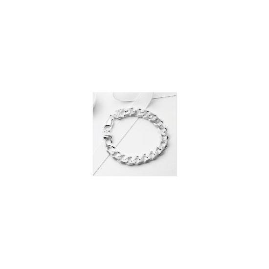 Silver Gents Heavy Curb Bracelet