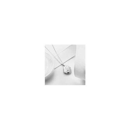 Silver Diamond Set Little Star Locket