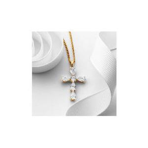 Photo of Pave Teardrop Cross Pendant Jewellery Woman