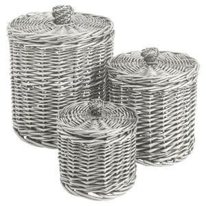 Photo of Tesco Willow Round Storage Basket Set Of 3 Home Miscellaneou