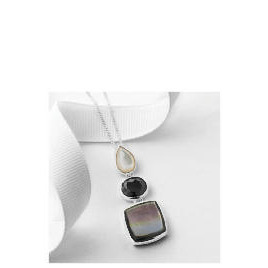Silver Mother of Pearl and Black Cubic Zirconia Pendant Reviews
