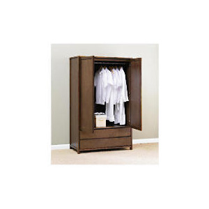 Photo of Monzora Large Double Wardrobe Large, Dark Oak Furniture