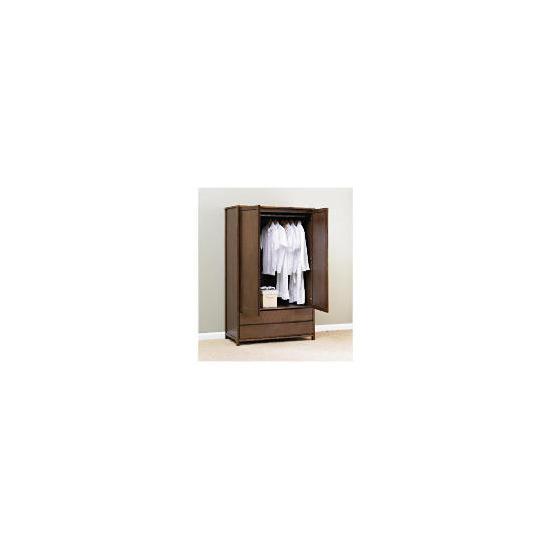 Monzora Large Double Wardrobe Large, Dark Oak