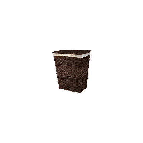 Darks & lights laundry basket chocolate