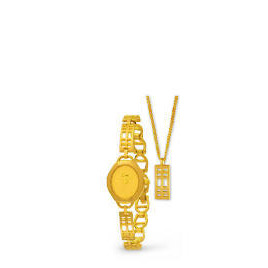Limit Ladies Gold Watch and Necklace Set Reviews