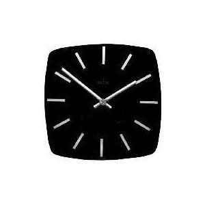 Photo of Acctim Mika 26CM Square Black Glass Wall Clock Home Miscellaneou