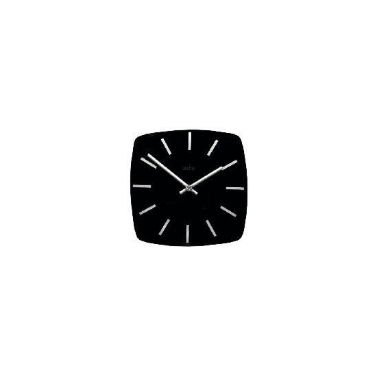 Acctim Mika 26cm Square Black Glass Wall Clock