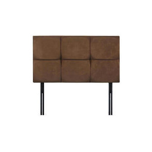Photo of Mayfair King Headboard, Mocca Faux Suede Bedding