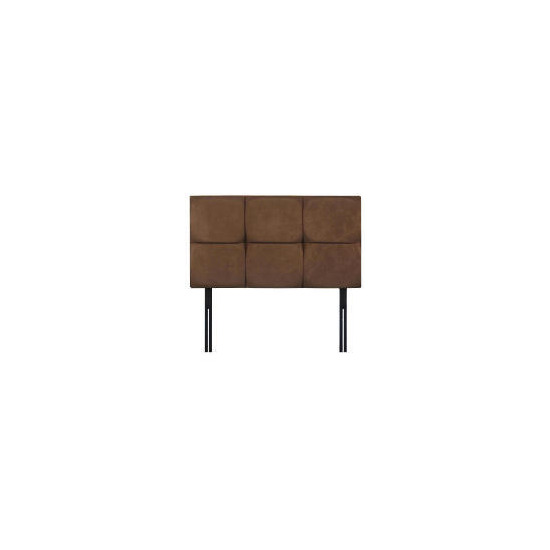 Mayfair King Headboard, Mocca Faux Suede