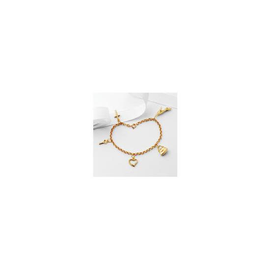 9ct Gold Five Charm Bracelet