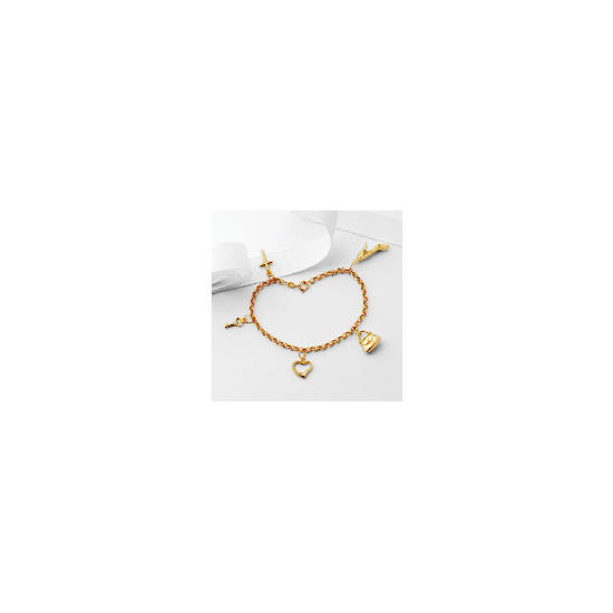 9ct Gold Five Charm Bracelet