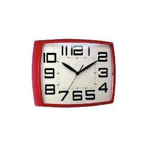 Photo of Daphne Red Retro Wall Clock Home Miscellaneou