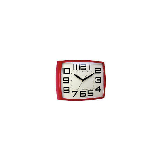 Daphne Red Retro Wall Clock