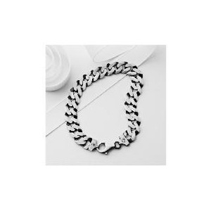 Photo of Silver Oxidised Curb Bracelet Jewellery Woman