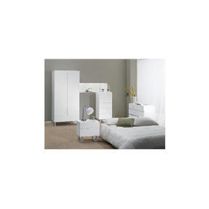 Photo of Costilla Bedside Chest, White Furniture