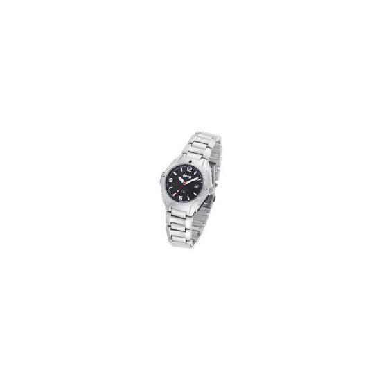Jeep Mens Black Face Silver Bracelet Watch
