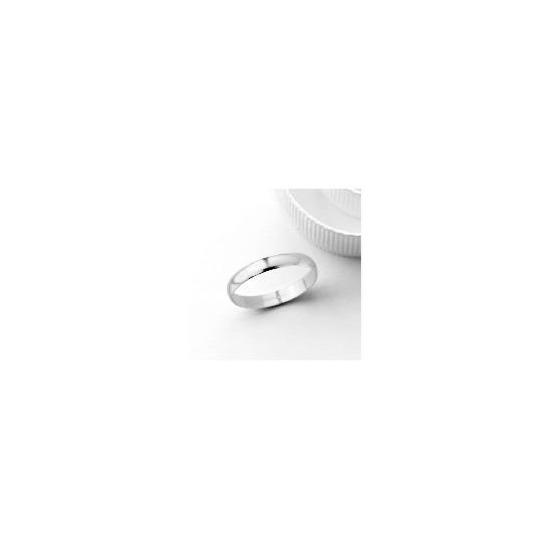 18ct White Gold 3mm Wedding Band, J