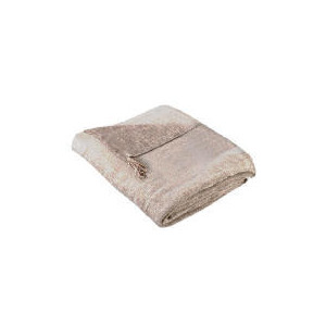 Photo of Tesco Finest Chenille Throw, Mocha 125X150CM Cushions and Throw