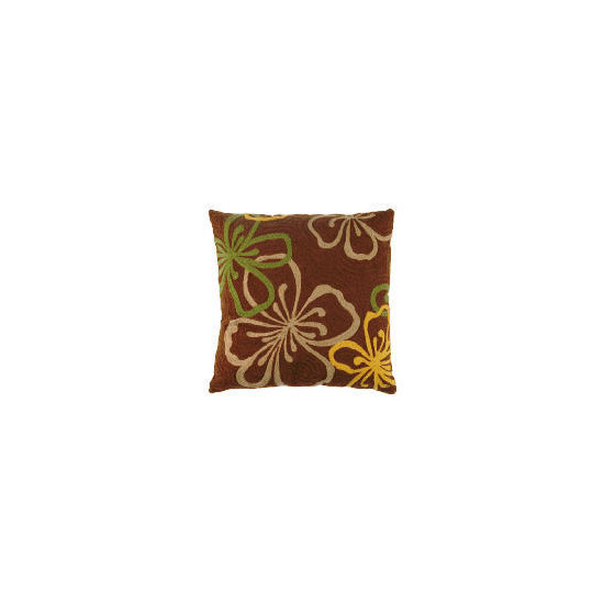 Tesco Embroidered Flower Cushion, Loretta