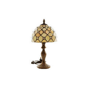 Photo of Tesco Jewelled Tiffany Table Lamp Lighting