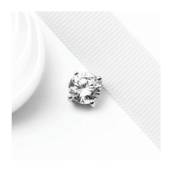 Silver Cubic Zirconia Single Stud