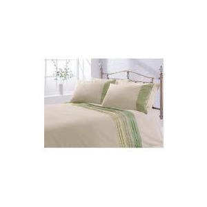 Photo of Tesco Satin Pintuck Duvet Set Kingsize, Cream Bed Linen
