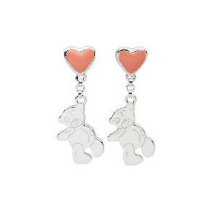 Photo of Me To YOU Pink Heart and Tatty Teddy Earrings Jewellery Woman