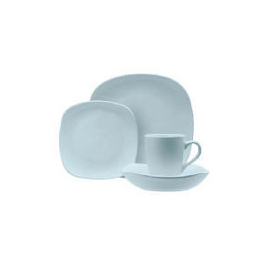 Photo of Tesco Mono Square Dinnerware Set 16 Piece, Blue Dinnerware