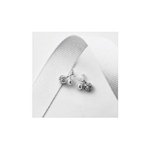 Photo of Silver Crystal Cherry Studs Jewellery Woman
