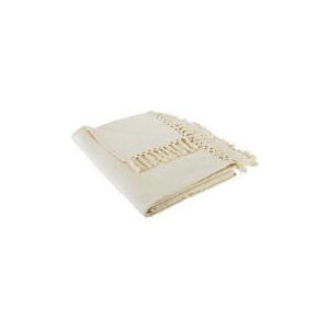 Photo of Tesco Diamond Cotton Throw, Natural Cushions and Throw