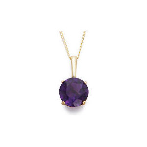 Photo of 9CT Gold Amethyst Pendant Jewellery Woman