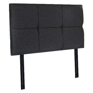 Photo of Mayfair King Headboard In Black Damask Bedding