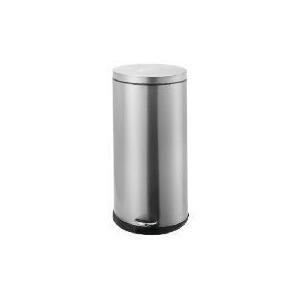 Photo of 30L Brushed Stainless Steel Oval Bin Bin