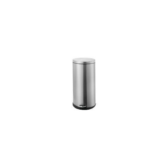 30L brushed stainless steel oval bin