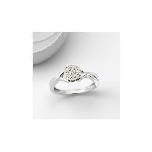 Photo of 9CT White Gold Invisible Set Ring - L Jewellery Woman