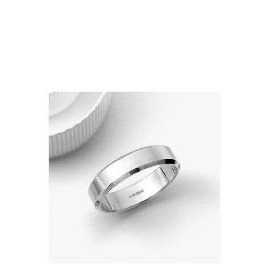 9ct White Gold 5mm Bevelled Edge Wedding Band R Reviews