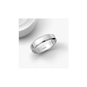 Photo of 9CT White Gold 5MM Bevelled Edge Wedding Band R Jewellery Woman