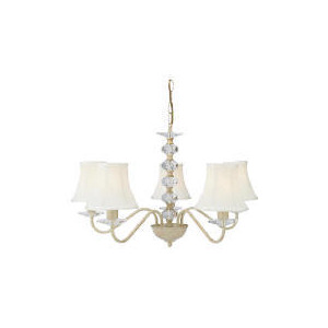Photo of Tesco Twisted Shade Chandelier, Cream Lighting