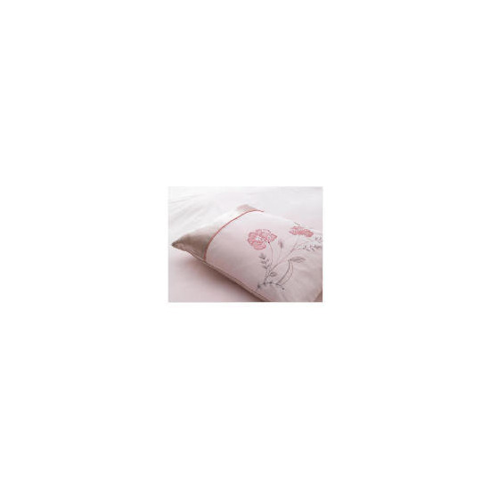 Tesco Amiee Embroidered Cushion, Pink