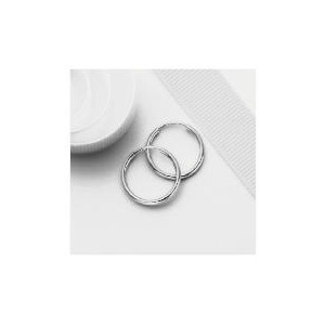 Photo of 9CT White Gold Sleeper Earrings Jewellery Woman