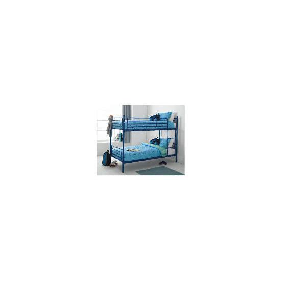 Mika Metal Twin Bunk Bed, Navy
