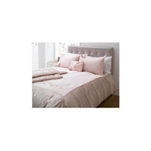 Photo of Tesco Amiee Embroidered Duvet Set Double, Pink Bed Linen