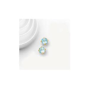 Photo of 9CT Gold Blue Topaz Earrings Jewellery Woman