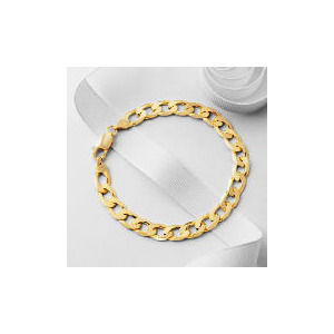 Photo of 9CT Gold Gents Curb Bracelet Jewellery Men