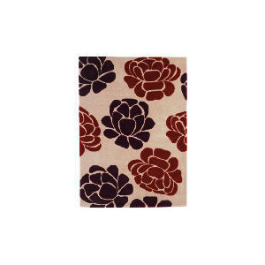 Photo of Tesco Floral Wool Rug, Multi 120X170CM Rug