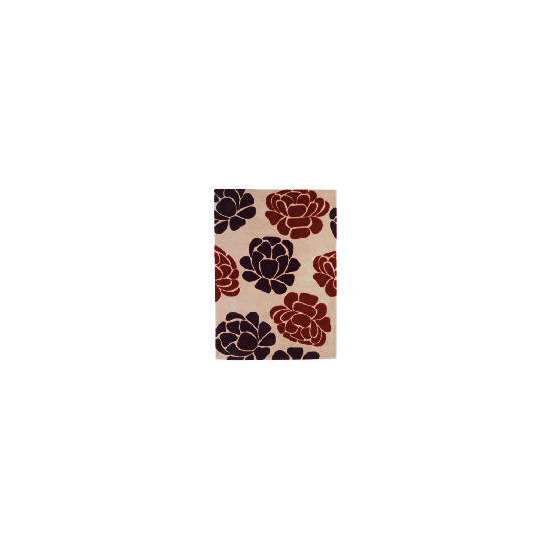 Tesco Floral Wool Rug, Multi 120x170cm
