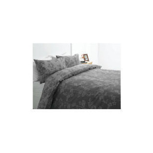 Photo of Tesco Bamboo Print Duvet Set Double, Mocha Bed Linen