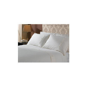 Photo of Hotel 5* Squares Duvet Set Kingsize, Cream Bed Linen