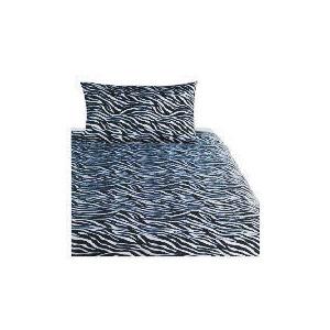 Photo of Tesco Zebra Print Duvet Set Single, Black Bed Linen