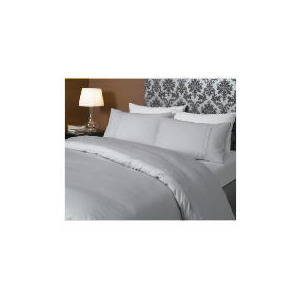 Photo of HOTEL 5* Squares Duvet Set Double, Grey Bed Linen